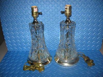 Vintage 2  Early American Prescut  Electric Lamps Star of David