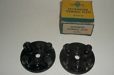 1936-1948 Lincoln Zephyr V12 ignition terminal plate pr 1 NOS 36 37 38 39 40 41