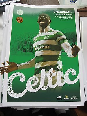 2016-17 Celtic v Motherwell Betfred Cup 2nd round 10.8.2016