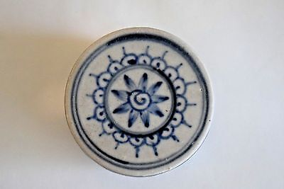 Hoi An - 15th Century - Blue White Cylindrical Box, w/  LOTUS Bloom - PERFECT116