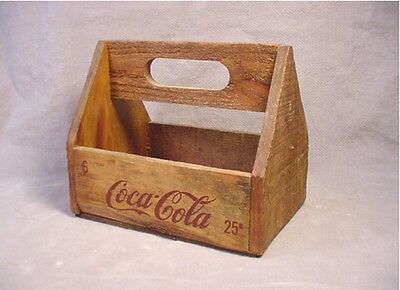 Coca Cola Coke Wooden 6 Pack Carrier