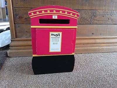 Early Learning Centre small wood mail box, post box kids toy roll play toy