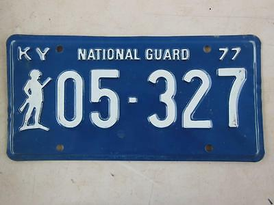 1977 Kentucky 05-327 National Guard License Plate Military Armed Forces Soldier