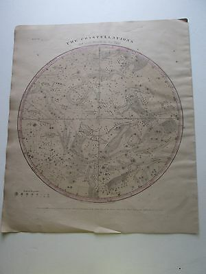 "1856 Burritt's ""the Constellations, 2Nd Each Month In The Year, Some Hand Color"