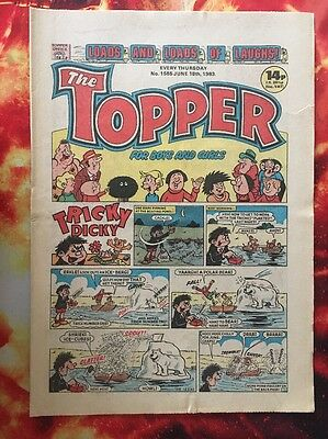 The Topper Comic 18 June 1983. No.1584 Unread/unsold Newsagents Stock . Fn+