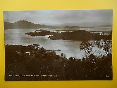 3 x The Islands Loch Lomond Dunbartonshire c1920s From Camstraddon & Stronbrae