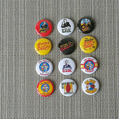 12 Better Call Saul! / Los Pollos Hermanos Button / Pins Badges / 1 Inch / 25 mm