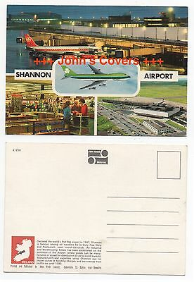 1970's IRELAND Cover SHANNON AIRPORT RP Real Photo HINDE Postcard UNUSED