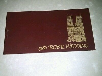 1986 ROYAL WEDDING BOOKLET WITH 12 PEFERATED STAMPS. ?????  No 1