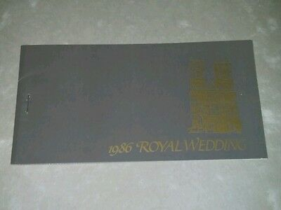 1986 Royal Wedding Booklet With 12 Prferated Stamps. ?????