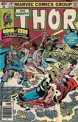 THOR # 291<>MARVEL COMICS<>1980<>fine