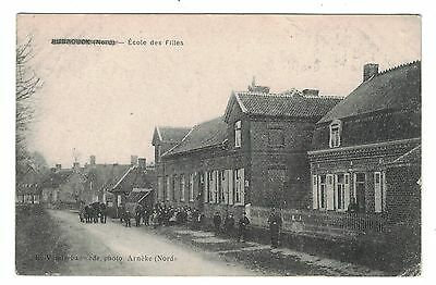 1916 WW1 Postcard  Ecole de Filles, Rubrouck, France