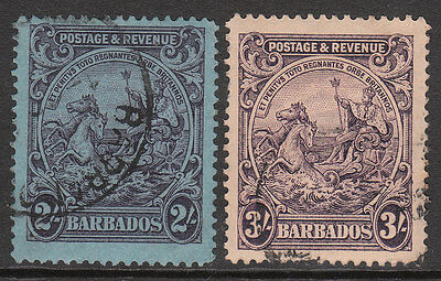 BARBADOS 1925 #239 1932 #238a USED GV STAMPS top 2 values