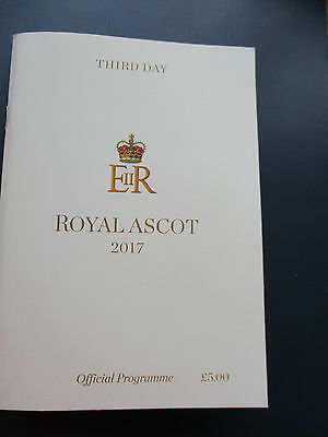 Royal Ascot Racecard Third Day Thursday 22nd June 2017. ( MINT )