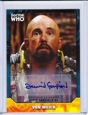 Doctor Who Signature Series Trading Card Autograph David Garfield