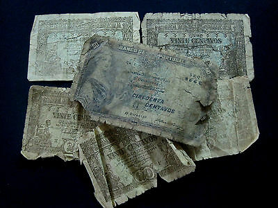 Portugal Banknote Lot Of Six Old Notes Poor Condition