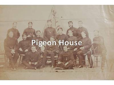 Very Large Photo Northamptonshire Regt. 48th Foot Officers in Patrols c1870s