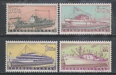 CZECHOSLOVAKIA - 1960.  Czech Ships - Set of 4, MH