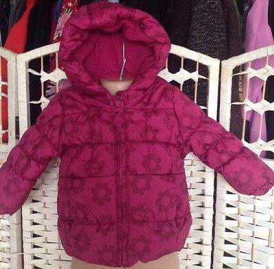Baby Girl Padded Pink Coat 3-6 months