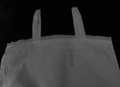 "VINTAGE GIRLS CHILDS WHITE COTTON PETTICOAT EMBROIDERED TESSA 20"" Chest (104)"