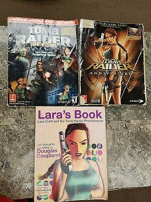 Tomb Raider Strategy Guides Lot Of 3 Books