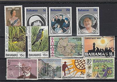 Bahamas. 12-- 1970/80's Mounted Mint / Used Stamps On Stockcard