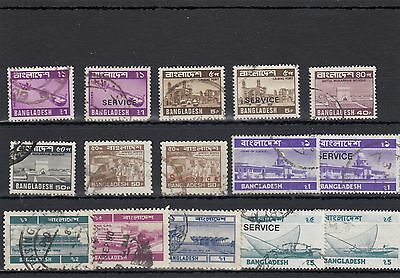 Bangladesh.15 --1970's Used Stamps On Stockcard