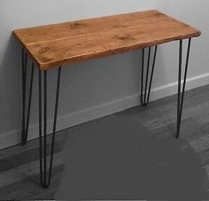 Brand New re:nu RECLAIMED WOOD CONSOLE TABLE with Steel Hairpin Legs - Y99