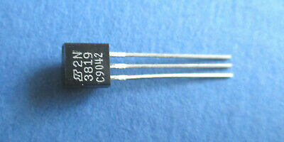2N3819  + + + 10-er Pack + + +  TO-92 N-channel J-FET NATIONAL SEMICONDUCTOR