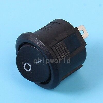 10pcs Black 15mm KCD11-105-2P Rocker Power Switch For Industrial Control