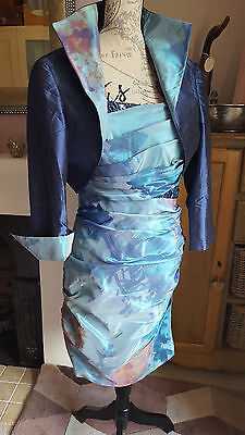 John Charles blue silk dress and jacket size UK14 - Wedding! Mother of the Bride