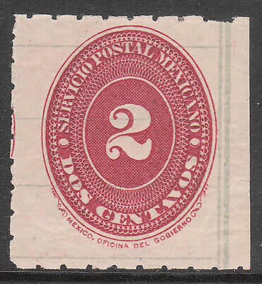 MEXICO 1887 Sc#202 MINT NUMERAL 2 STAMP P10