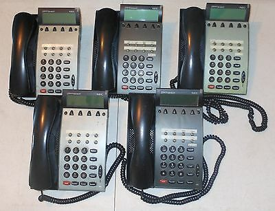 Lot of 5 NEC DTP-8D-1U LCD Display Programmable Telephone Handset Speakerphone