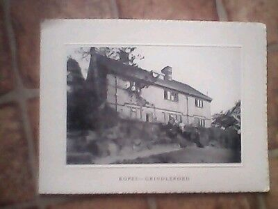 Ropes Grindleford Sheffield Christmas card Hon R A & Mrs Balfour unused