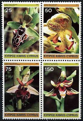 Cyprus 1981 SG#572-5 Wild Orchids, Flowers MNH Block Set #D51715