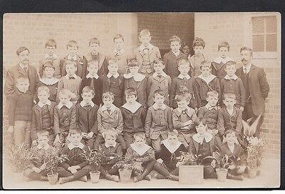 Highlands School in London - Enfield 1905 - RPPC postcard