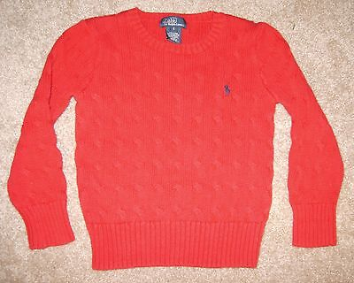 Boy's Polo Ralph Lauren Red Sweater size 5