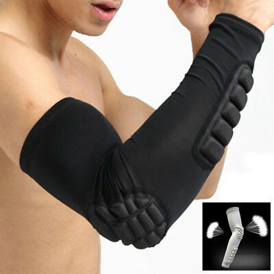 1 PC Anti-slip Crashproof Arm Sleeve Support Honeycomb Pad Elbow Protector Brace