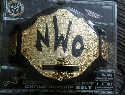 NWO World Heavyweight Wrestling Champion Belt  2006 JAKKS PACIFIC  . WWF