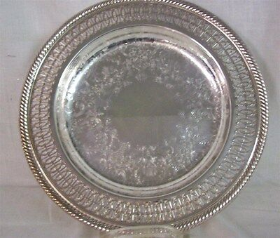 "SILVERPLATE Round Serving Tray 10.25"" diameter"