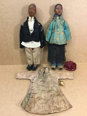 Antique Chinese Door Of Hope Doll Lot