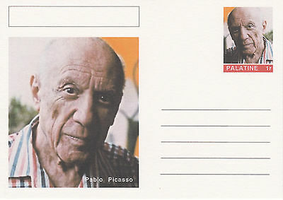 CINDERELLA - 4444 - PABLO PICASSO  on Fantasy Postal Stationery card