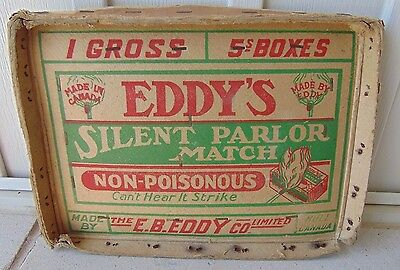 Antique Eddy Match Co. Advertising Crate Lid Sign, Hull Quebec