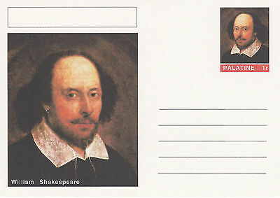 CINDERELLA - 4446 - WILLIAM SHAKESPEARE  on Fantasy Postal Stationery card
