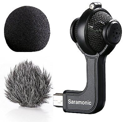 Saramonic G-Mic Stereo Ball Microphone with Foam & Furry Windscreens for GoPro