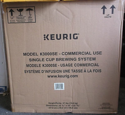 Keurig K3000SE Brewing System - Black/Silver - Brand New In Box