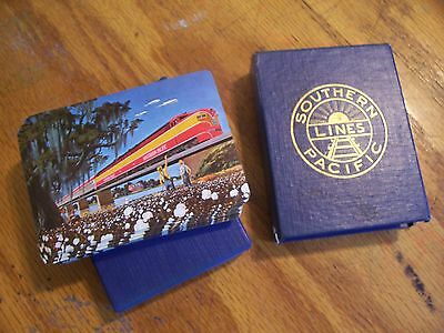 Vintage 1940s Southern Pacific Souvenir RR railroad Playing Cards in Box