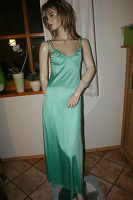 Noble soft VANITY FAIR Negligee Nightgown USA mint Empire Nylon S