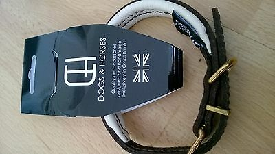 BNWT DOGS & HORSES Classic Colours LEATHER COLLAR £35 XS EXTRA SMALL D&H NEW