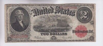 Legal Tender  $2 1917  one old note fine